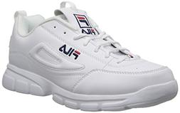 Fila Men's Disruptor SE Training Shoe, White/Fila Navy/Fila