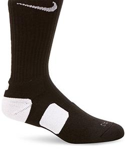 Nike Dri-FIT Elite Crew Basketball Socks Black/White Size La