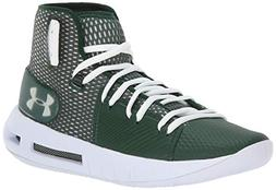 Under Armour Men's Drive 5 Basketball Shoe, Forest Green /Wh