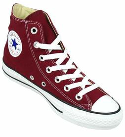 Converse Hi Top All Star Chucks White Burgundy Mens Womens S