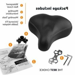 Extra Comfortable Bike Seat for Seniors with Elastomer Sprin