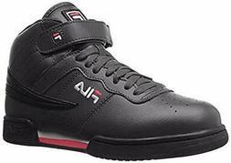 Fila Men's f-13v lea/syn Fashion Sneaker, Black/White Red, 1