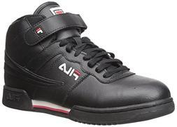 Fila Men's f-13v lea/syn Fashion Sneaker, Black/White Red, 9