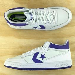 Converse Fastbreak 83 White Purple Mid Top Basketball Shoes