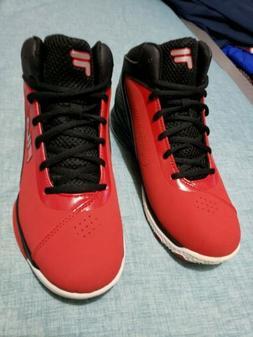 💥Fila Men contingent Basketball Shoe Red/black Men Size 8