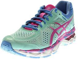 ASICS Gel Kayano 22 GS Running Shoe , Ice Blue/Pink Glow/Mar