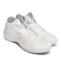 Asics Gelburst 24 2E Wide White Gold High Top Mens Basketbal