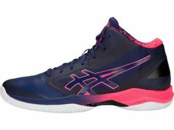 Asics GELHOOP V 10 AWC Navy Blue Pink Men Basketball Shoes 1