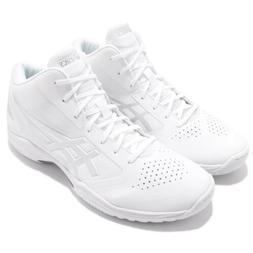 Asics Gelhoop V 10 Wide Hi White Silver Men Basketball Shoes