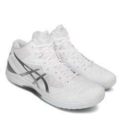 Asics Gelhoop V12 2E Wide White Silver Gel Mens Basketball S