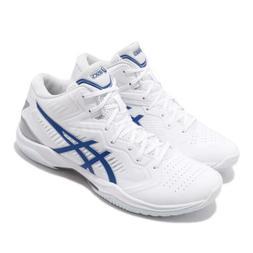 Asics Gelhoop V12 Gel White Blue Hi-Top Mens Basketball Shoe