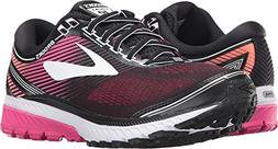 Brooks Women's Ghost 10 Black/Pink Peacock/Living Coral 5 B