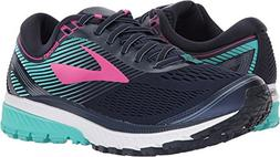 Brooks Women's Ghost 10 Navy/Pink/Teal Green 5.5 B US