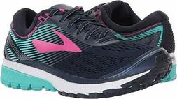 Brooks Women's Ghost 10 Navy/Pink/Teal Green 5 B US
