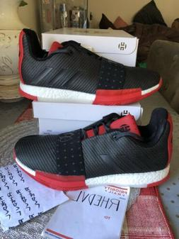 Adidas Harden Vol 3 Basketball Shoes Boost Red Black AQ0034