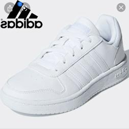Adidas Hoops 2.0 K Tennis Sneaker All White Men's Size 7 100