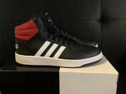 Adidas Hoops 2.0 Men's Mid High Top Basketball Sneakers Sh