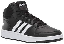 adidas Men's Hoops 2.0, White/Black, 11 M US