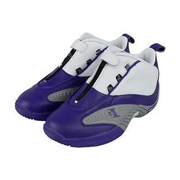 Reebok Iverson Answer Iv Pe Mens Purple Leather Athletic Bas