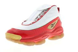 iverson legacy cn8406 mens red leather athletic