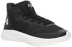 Under Armour Women's Jet Mid Basketball Shoe, Black /White,