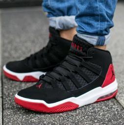 Jordan Max Aura Basketball Shoes Black/Gym Red-White AQ9084