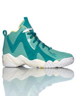 Reebok Kamikaze II Mid Basketball Shoe - Jadite/Utopic Teal/