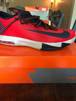 Nike KD 6 VI DC Mens Crimson Obsidian Basketball Shoes Red U