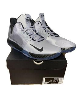 NIKE KD Trey 5 VII Wolf Grey White Basketball Shoes Men's Si