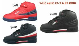 Kids F13 Fila Youth Unisex Leather Sneakers Hi Strap Basketb