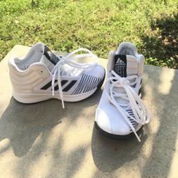 Adidas Kids Size 12Y White/ Black Pro Spark 2018 Basketball