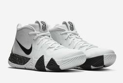 Nike Kyrie 4 TB Basketball Shoes White Black AV2296-100 Men'