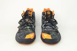Nike Kyrie 5 V 'Taco' PE Black Orange Wood Camo AO2918-902 M