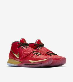 """Nike Kyrie 6 All Star """"Trophies"""" Basketball Shoes Red Gold C"""
