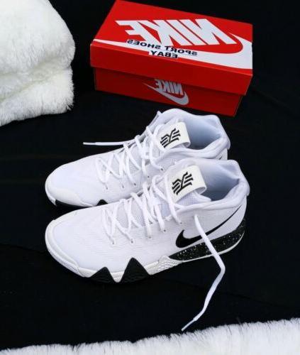 11.5 MEN'S Kyrie 4 TB Shoes AV2296-100 White SNEAKERS