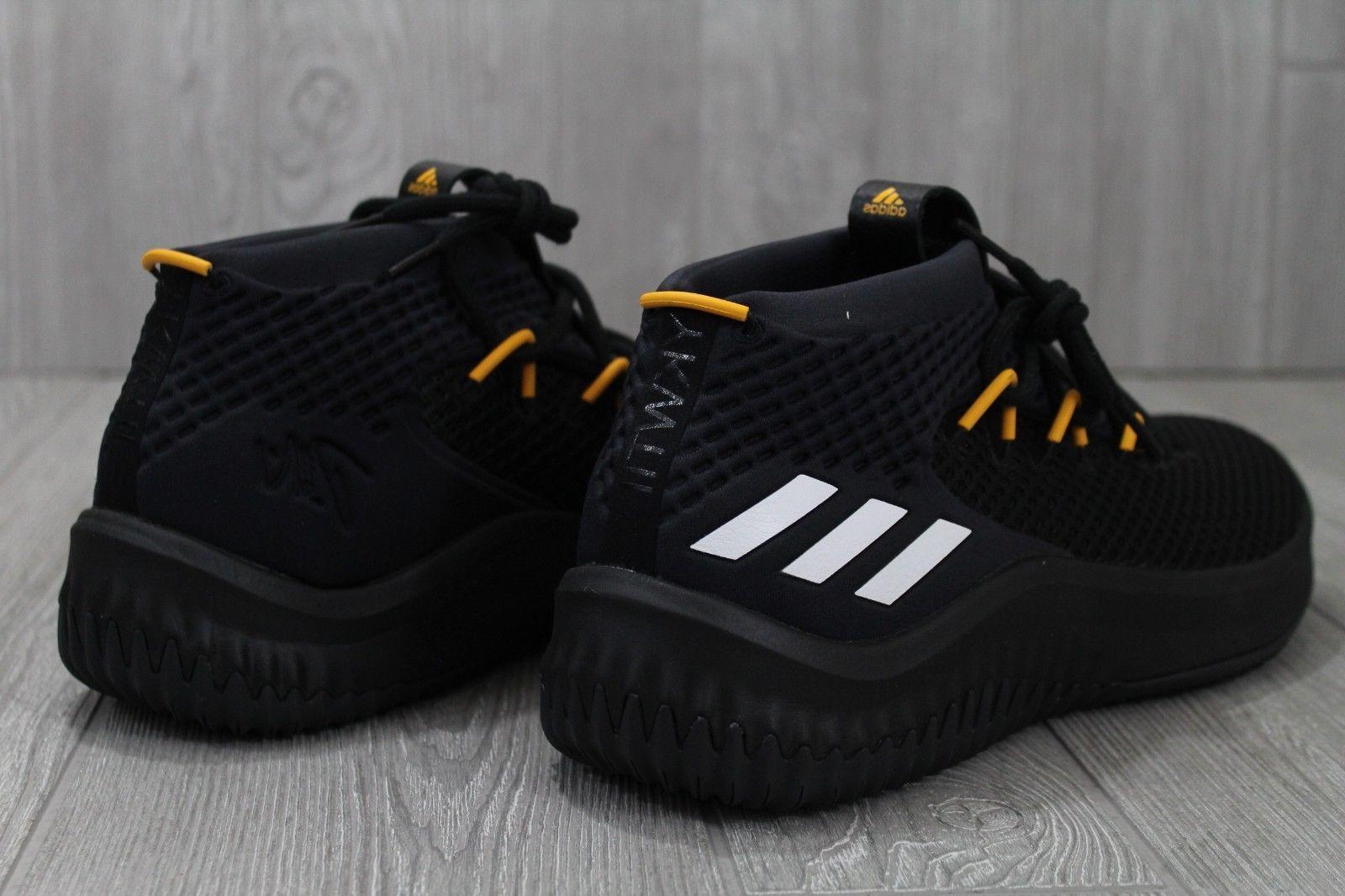 32 Adidas Black Yellow Lakers Basketball 12.5 13 14