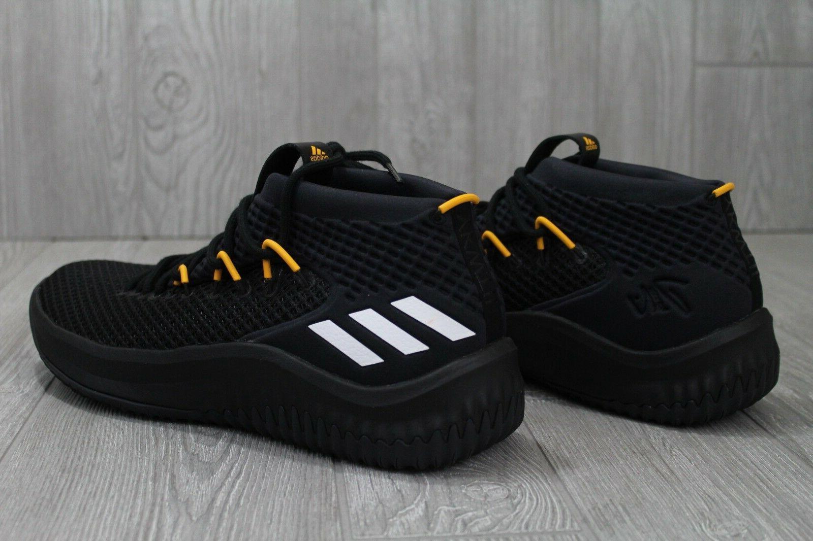 32 Adidas Black Yellow PE Basketball AC7293 Size 12.5 13 14