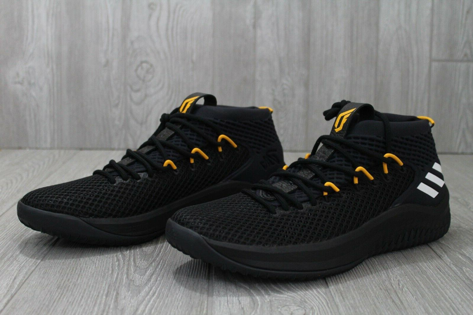 32 Adidas 4 Black Yellow Lakers PE Basketball Shoes 12.5 13