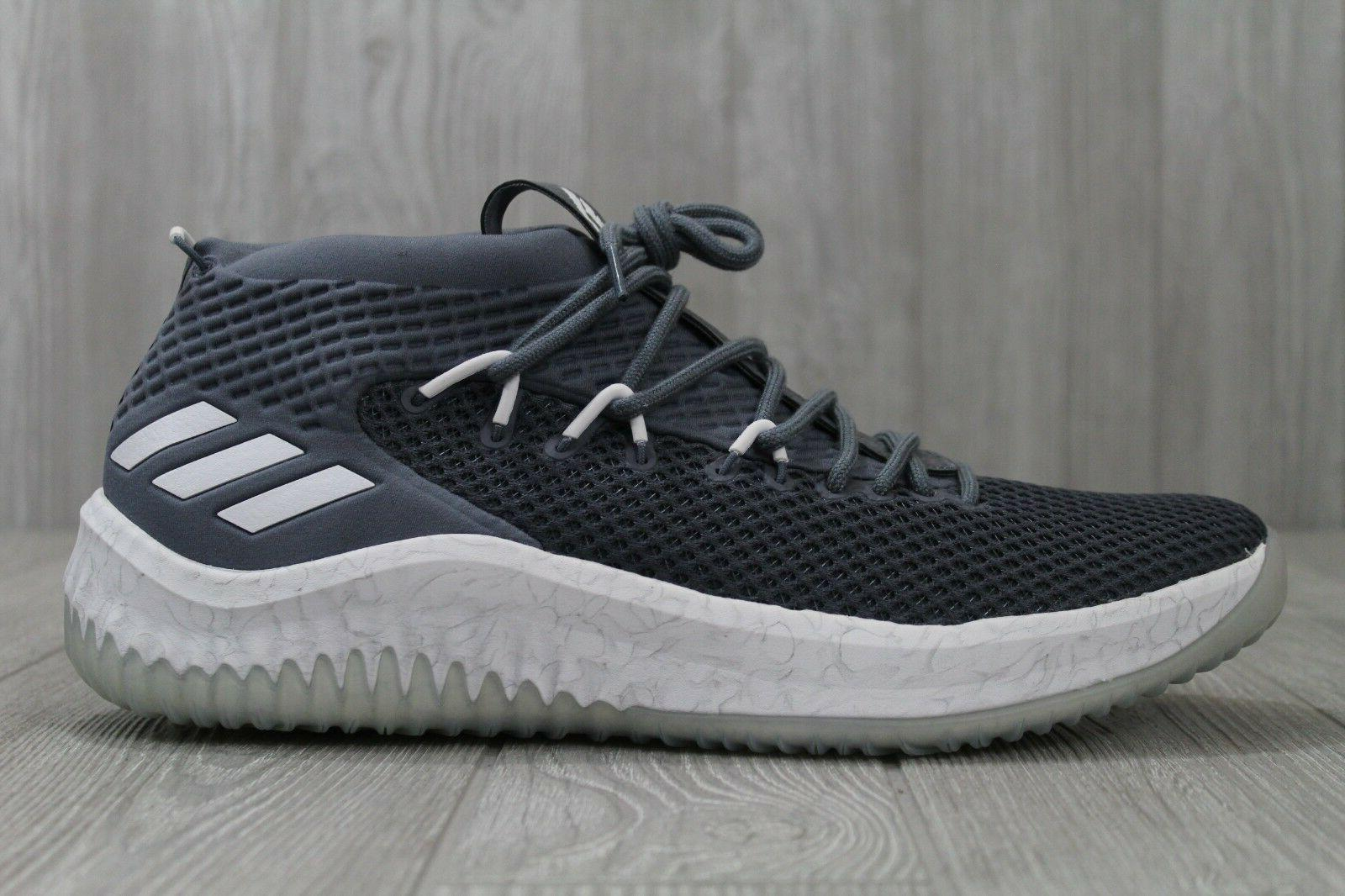 33 dame 4 basketball shoes grey white