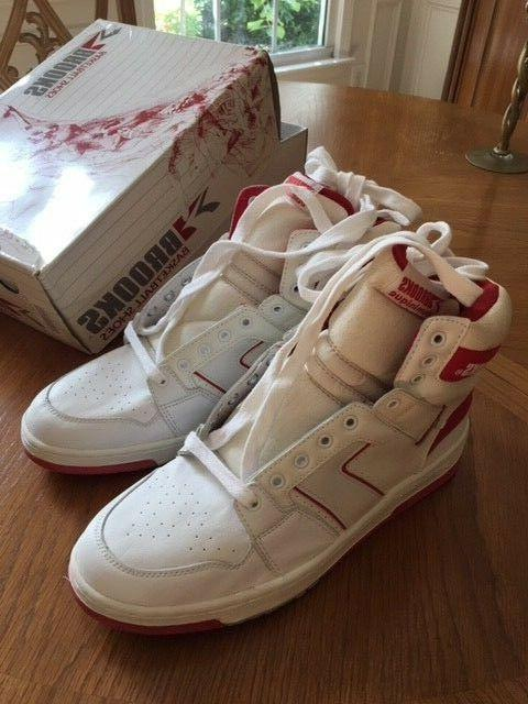 NIB Men's Vintage Dominque Shoes 11.5 White and Red