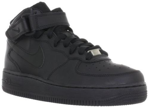Nike Unisex-Adult Air Force 1 Mid'07 Gs Black / Black Leathe