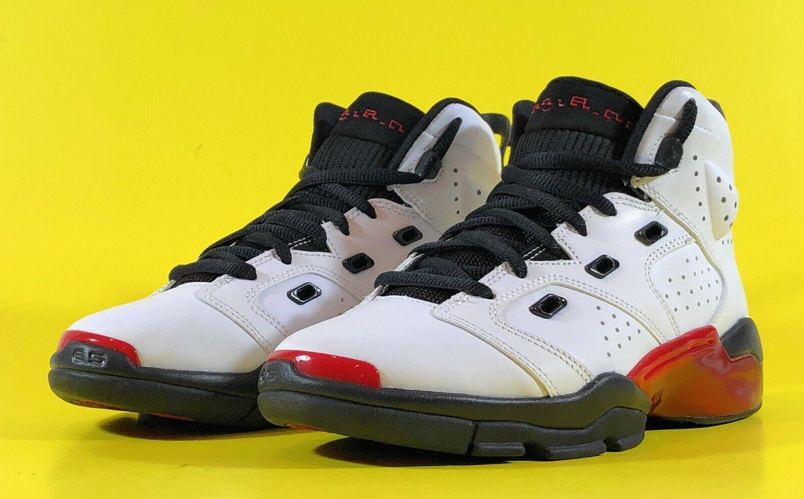 Air Jordan White Gym Red Black Boys Basketball