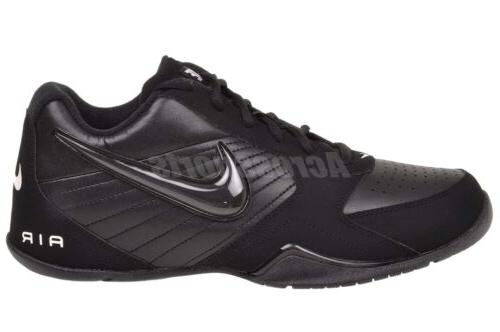 air baseline low mens basketball shoes black