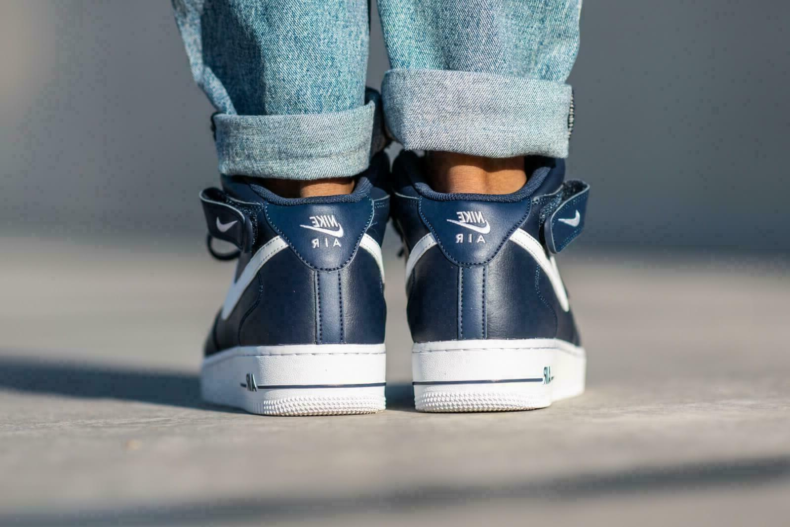 Nike Air Force Mid Navy Blue