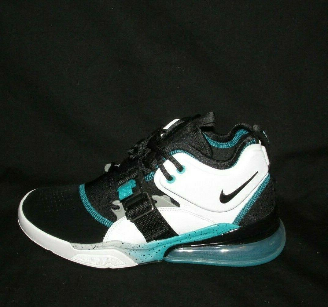 Nike Air Force 270 Mens Basketball Shoes White Emerald