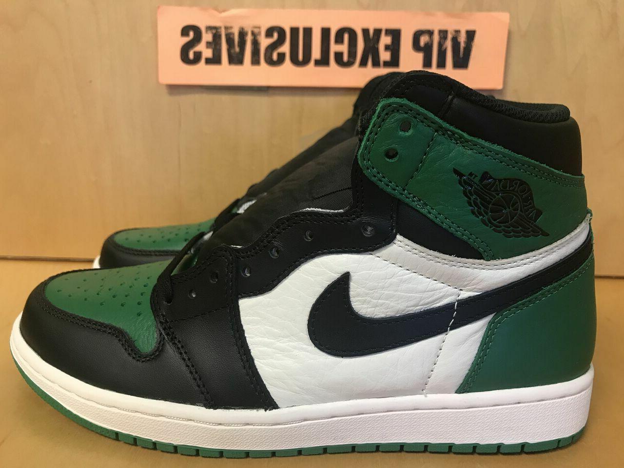 "Nike Air Jordan 1 Retro One OG High 2018 ""Pine Green"" 555088"