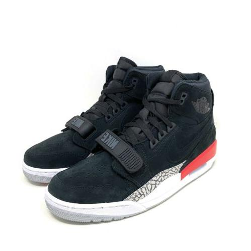 air legacy 312 basketball shoes black fire