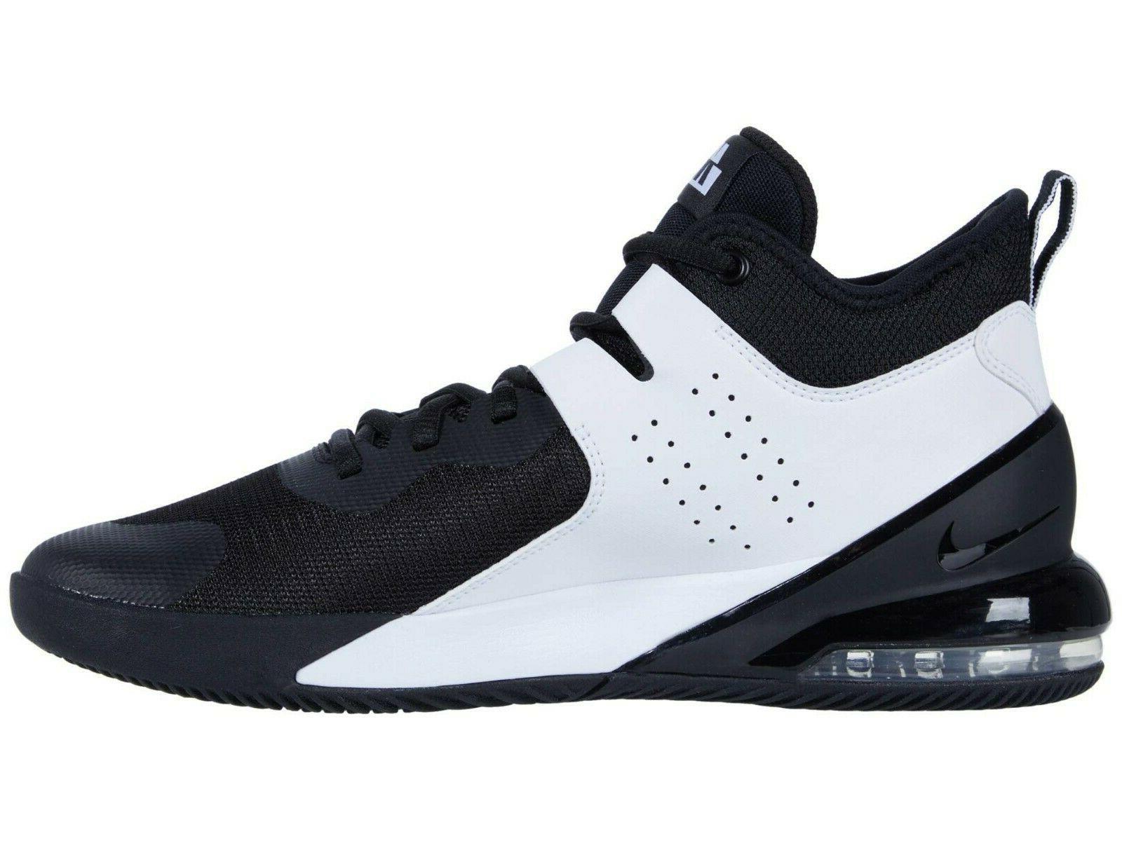 Nike AIR Mens Black/Black-White CI1396-004 Basketball Shoes