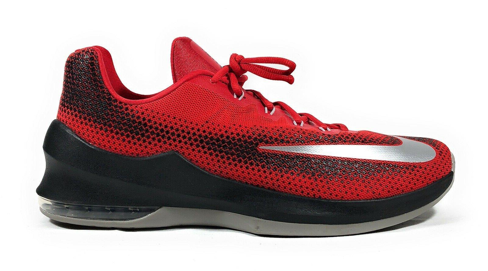 Nike Air Max Infuriate Low Men's Red Black Basketball Sneake