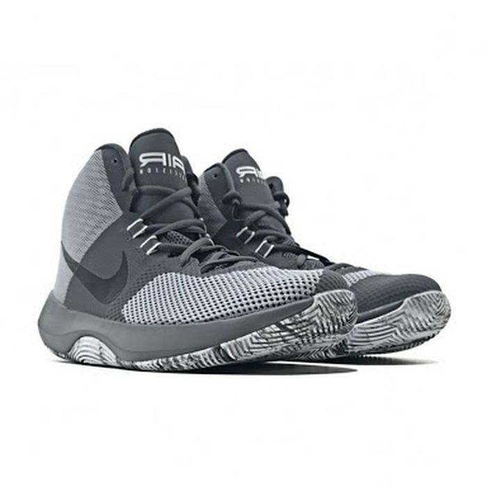 air precision basketball shoes wolf gray black
